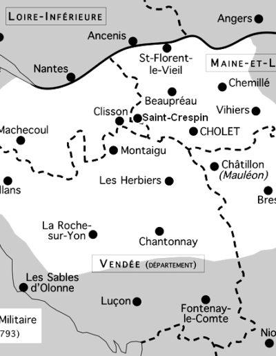 Carte Venndée militaire en 1793
