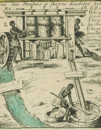 Croquis d'un moulin à sucre en 1667 aux Antilles
