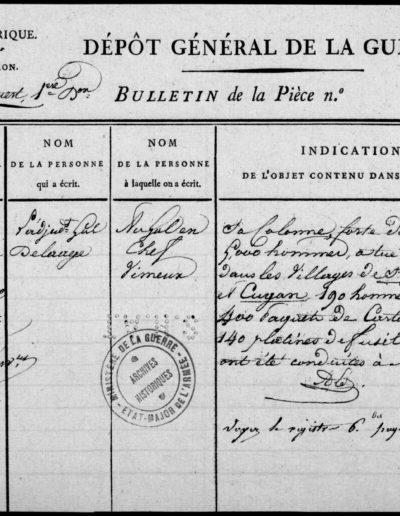 Rapport du Général Delaage